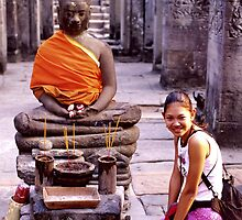 Smiling Buddhist by John Spies