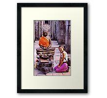 Smiling Buddhist Framed Print