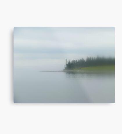 Dense fog at Wadsworth Cove Metal Print