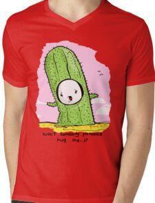 Nobody Hugs A Cactus. Mens V-Neck T-Shirt
