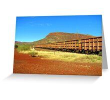 Iron Ore Train - Mt. Nameless Tom Price Greeting Card