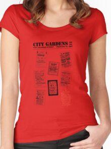 City Gardens - Punk Card Tee Shirt (v. 3.0) Women's Fitted Scoop T-Shirt