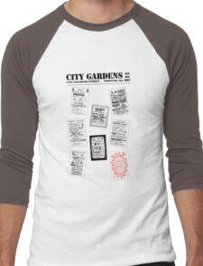 City Gardens - Punk Card Tee Shirt (v. 3.0) Men's Baseball ¾ T-Shirt
