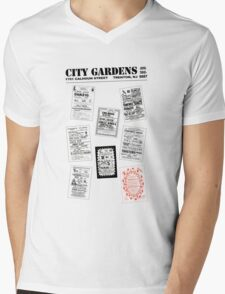City Gardens - Punk Card Tee Shirt (v. 3.0) Mens V-Neck T-Shirt