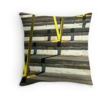 Yellow Railing Throw Pillow
