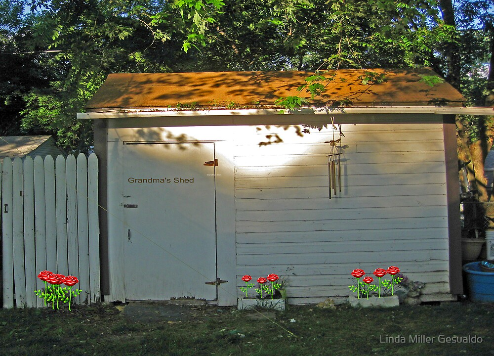 Old Shed In The Back Yard by Linda Miller Gesualdo