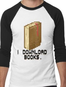 I DOWNLOAD BOOKS! Men's Baseball ¾ T-Shirt