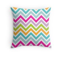 Pastel Chevron Chic Throw Pillow