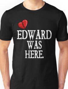 Twilight Edward Was Here Broken Heart T-Shirt Unisex T-Shirt