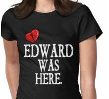 Twilight Edward Was Here Broken Heart T-Shirt Womens Fitted T-Shirt