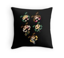 SPACED INVADERS Throw Pillow