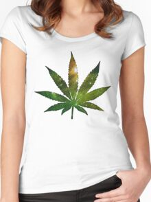 Pot Leaf Women's Fitted Scoop T-Shirt