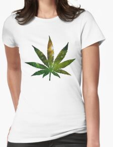 Pot Leaf Womens Fitted T-Shirt