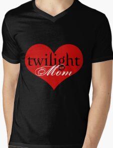 Twilight Mom Heart T-Shirt Mens V-Neck T-Shirt