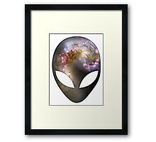 Space Alien Framed Print