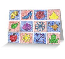 Disney Princess Logos Zentangle Greeting Card