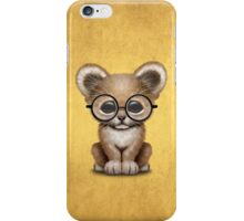 Cute Baby Lion Cub Wearing Glasses  iPhone Case/Skin