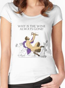 Why's the Wine Gone? Women's Fitted Scoop T-Shirt