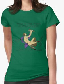Why's the Wine Gone? Womens Fitted T-Shirt