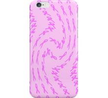 Pink Ribbon for Breast Cancer Twist Abstract iPhone Case/Skin