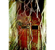 Haunted old door at an abandoned old house? Photographic Print
