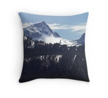 Strathcona Park Mountains Throw Pillow