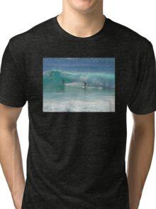 Surfing at Burleigh Heads #1 Tri-blend T-Shirt
