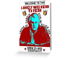 CHARLIE RICH PRINT POSTER Greeting Card