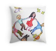 The Dance of Life Throw Pillow