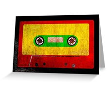 Grunge Reggae Cassette Tape - Cool Retro Music Prints Greeting Card