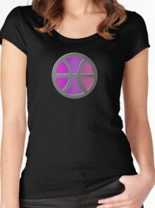 PISCIS SYMBOL SHIELD Women's Fitted Scoop T-Shirt