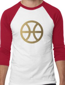 PISCIS SYMBOL GOLD Men's Baseball ¾ T-Shirt
