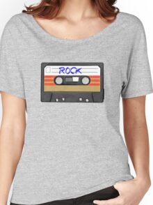 Rock and Roll music cassette Women's Relaxed Fit T-Shirt