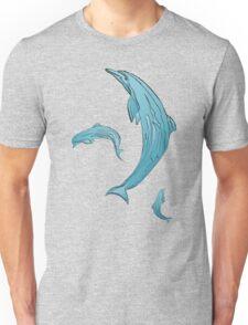 DOLPHINS BLUE Unisex T-Shirt