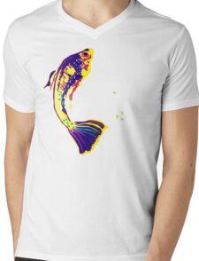 FISHY FOUR UP Mens V-Neck T-Shirt
