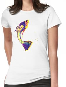 FISHY FOUR UP Womens Fitted T-Shirt