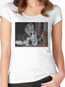 3 Little Kittens Women's Fitted Scoop T-Shirt
