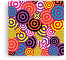 Retro Swirls Canvas Print