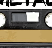 Metal Music - Cassette Tape Sticker