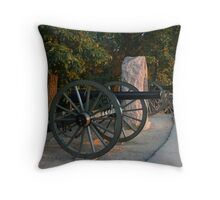 Silent Guns Throw Pillow