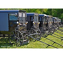 Amish Buggy Parking Photographic Print