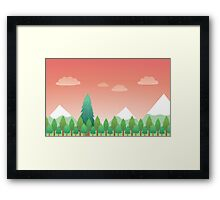 Forest Background Framed Print