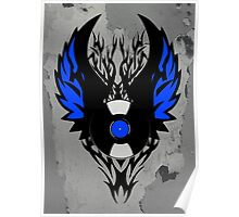Vinyl Record Tribal Wings Poster