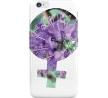 Purple Flower Venus Symbol iPhone Case/Skin