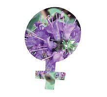 Purple Flower Venus Symbol by theboredkid