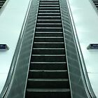 Escalators at Charing Cross station, London  by photoslot