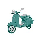 Vintage Scooter by Matthew  Weybright