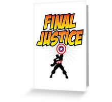 Captain America - Final Justice Greeting Card