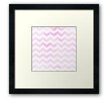 Chevron in bubblegum pink. Framed Print