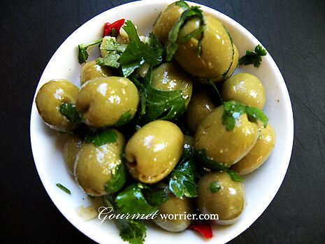 Spicy Moroccan Olives by MsGourmet